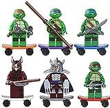 LUSTAR Tortugas Ninja Mutantes Adolescentes Juguetes Modelo de Personaje de Anime Juguetes Tortugas Ninja Figuras de Acción, para Fanáticos del Juego Chico Adulto 12cm