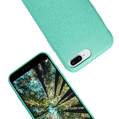 eplanita Eco iPhone 7/8/SE 2020 Mobile Phone Case, Biodegradable and Compostable Plant Fibre and Soft TPU, Drop Protection Cover, Eco Friendly Zero Waste (iPhone 7/8/SE 2020, Mint)