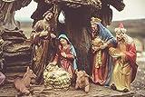 Pintura por Números para Adultos y niños Pintar Diy al óleo de Bricolaje Jesus Chris Born Religion E...