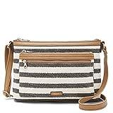 Relic by Fossil Women's Evie EW Crossbody Handbag, Color: Black Stripe Model: (RLH9007005)