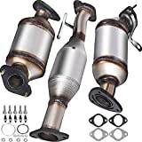 Mophorn Catalytic Converter, 3 Pcs Exhaust Pipe Stainless Steel High Flow Cat, for Chevrolet Traverse 09-17 3.6L V6/Buick Enclave 07-10/GMC Acadia 07-17/Saturn Outlook 3.6L 07-10 (OBD III Compliant)