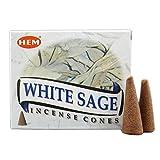 Encens Hem cônes - White Sage ou Sauge Blanche - Lot de 3 boites de 10 cônes -...