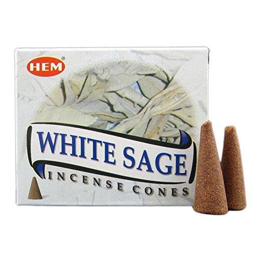 HEM Encens cônes - White Sage ou Sauge Blanche - Lot de 3 boites de 10 cônes - Livraison Gratuite