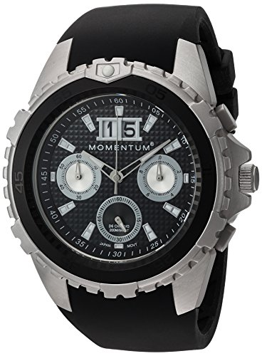 Momentum Heren Chronograaf Quartz Horloge met Rubber Band 1M-DV22B4B