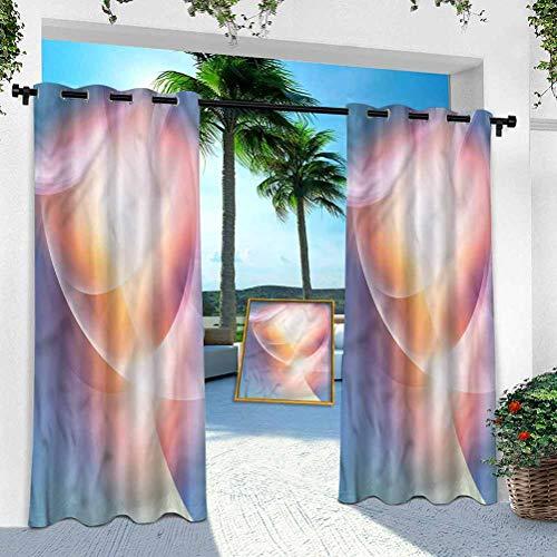 Aishare Store Pérgola Panel de cortina al aire libre, abstracto, ilustraciones temáticas energéticas, W 254 cm x L 213 cm (1 panel)