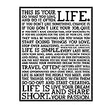 EFJPDL Holstee Manifesto Poster Life Motivational Inspiring Paintings Canvas Art Prints Wall Art for Living Room Decor -20X28 Inch No Frame 1 Pcs