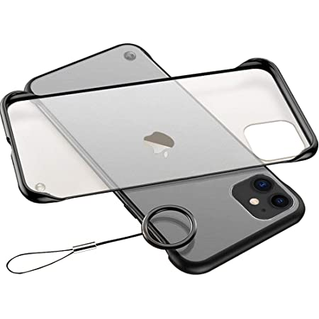 """Amozo Poly Carbonate Frameless Ultra Slim Back Case Cover for iPhone 11 (6.1"""") - Translucent"""
