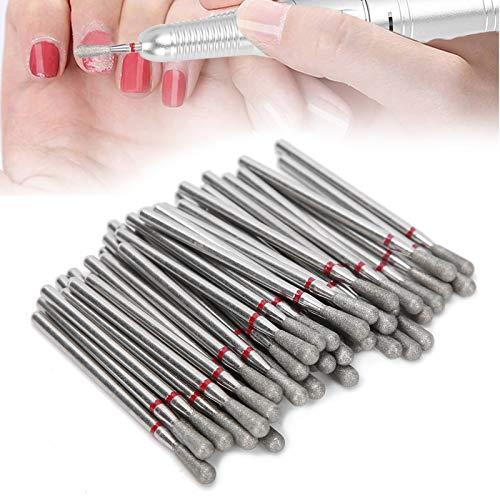 Cabezal para pulir uñas, brocas para pulir uñas duraderas 50 piezas resistentes al desgaste para salón de uñas para el hogar
