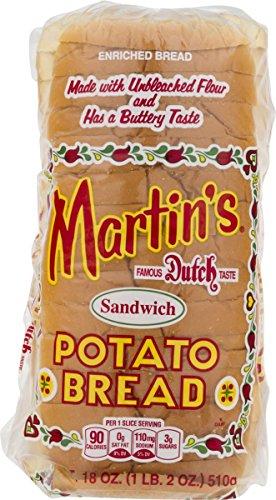 Martin's Sandwich Potato Bread- 16 slice 18 oz (4 Bags)