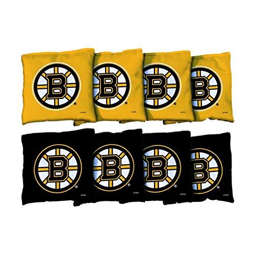 Victory Tailgate NHL Boston Bruins Cornhole Game Bag Set - Corn-Filled - Regulation Sized