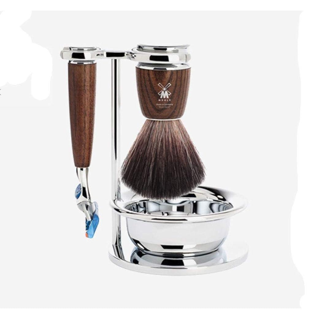 共産主義ドアミラー好奇心盛Muller Rytmo Shaving Set ミューレ シェービングセットFusion Gilletteの互換性 (かみそり+剃るスタンド+剃毛ボール+シェービングブラシ)(並行輸入品)