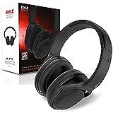 Auriculares Bluetooth con cancelación de ruido activa, micrófono inalámbrico para transmisión de audio y llamadas, batería plegable y recargable, aislamiento de sonido extremo para avión, Pyle PBTNC50