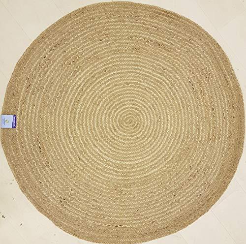 150cmx150cm Ronde ronde Jute Circle tapijt Gevlochten Rustieke stijl voor alle kamers