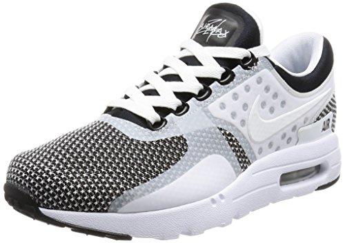 Nike Air Max Zero Essential Herren Sneaker , Mehrfarbig (weiß/schwarz/grau ) - Größe: 38,5 EU