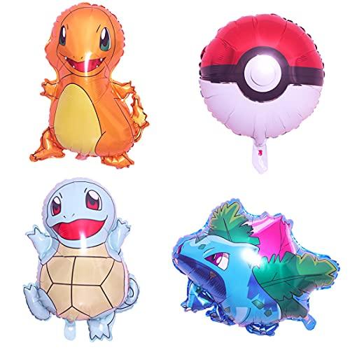 Cumpleaños - 6 Piezas Globo Helium Foil Balloons Globos de Fiesta Aluminio Globo Suministros de Fiesta