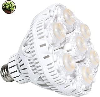 SANSI 36W Daylight LED Plant Light Bulb Full Spectrum Ceramic LED Grow Light Blub, E26 Plant Bulb Sunlight White Grow Light for Indoor Garden Farming Greenhouse Grow Walls, UV IR E26
