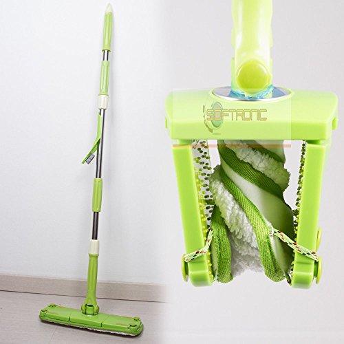 Mocio a torsione scopa con panno microfibra per pavimenti twist flap mop lavapavimenti
