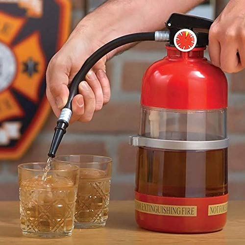 caomei 1 set brandblusser vorm water bier Dispenser Alcohol Vloeistof zachte drank drank Dispenser Machine Water flessen Bar Tools1.5l