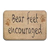 Amxxy ベアフィート奨励犬の足ソフトクッション滑り止め玄関マットバスラグ、クリエイティブなデザイン素敵な家の装飾屋内と屋外の正面玄関マットとバスルームマット15.7x23.6in