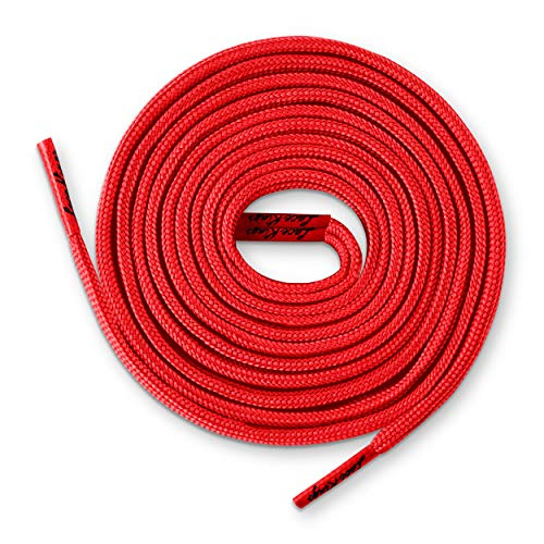 Lace Kings Flat Shoelaces (Red - 36in)