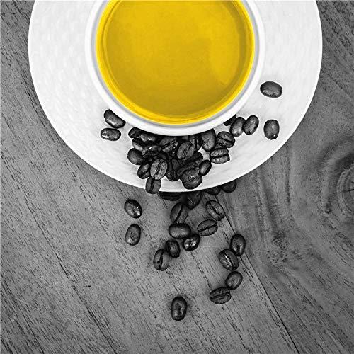 JHGJHK Taza de café Amarilla Estilo nórdico Pintura al óleo impresión Arte Dulce decoración del hogar Pintura artística decoración de Restaurante (Imagen 6)
