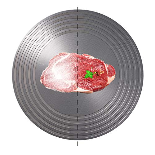 """Heat Diffuser, ROCKURWOK Aluminum Defrosting Tray Thawing Plate for Frozen Food, Heat Diffuser for Gas Stovetop, Energy Saving Heat Conducting Plate, 9.5"""""""