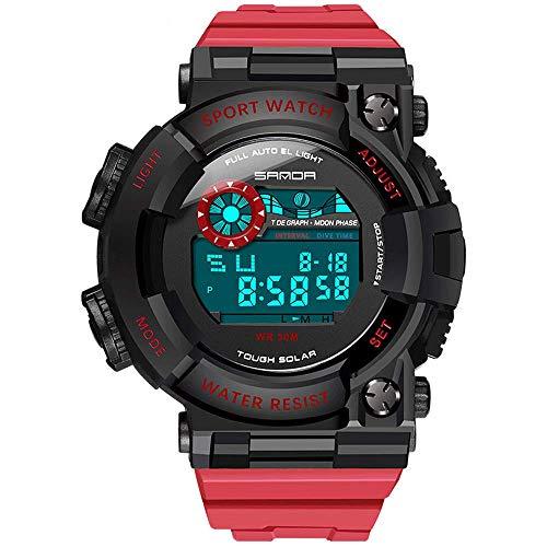 Reloj analógico militar, relojes electrónicos luminosos de moda simple, cronógrafo impermeable de deportes digitales para estudiantes de tendencia individual, movimiento electrónico original