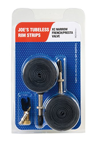 Joe's Flats Kit Convertidor A Rueda Tubeless, Unisex Adulto, Negro, 15-19 mm