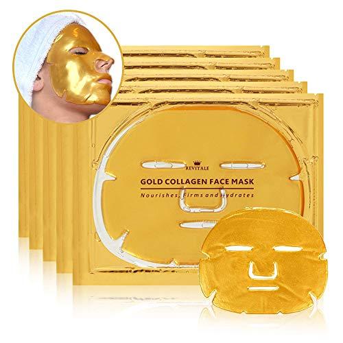 Mascarilla facial de oro de 24 quilates Revitale, enriquecida con colágeno