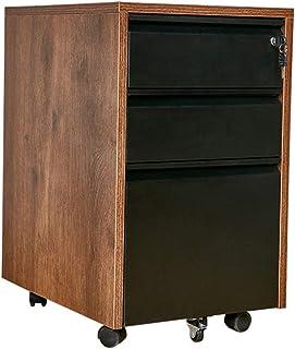 Armoires Classeur, Rangement à Serrure, Poulie de Rangement for Le Bureau, Épaisseur 1.8cm (64x50x39cm) (Color : Black)