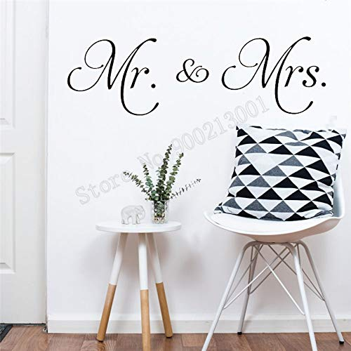 Wedding poster vinyl removable wall sticker bedroom decal mural ornament42X138cm