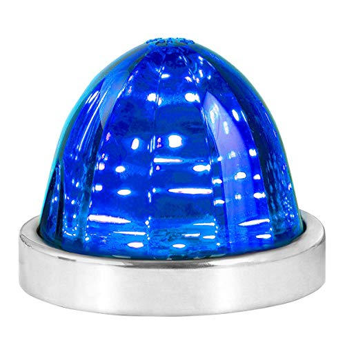 GG Grand General 81945 Blue/Blue Classic Watermelon Surface Mount 18 LED Turn/Marker Light with Stainless Steel Bezel