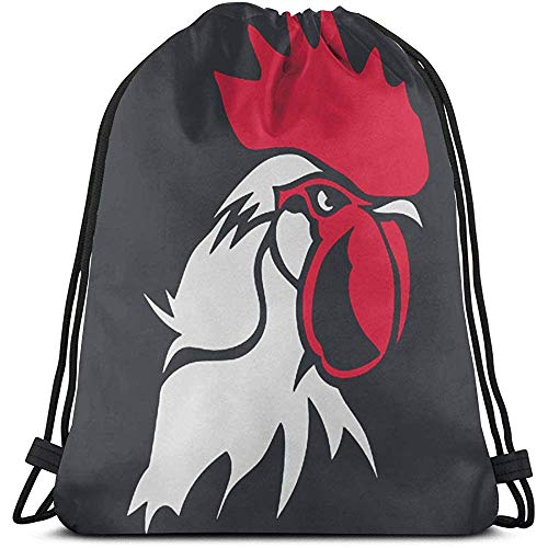 jingqi Chicken Rooster Head Kordelzug Rucksack Animal Gym Sackpack Umhängetaschen Zum Schwimmen Wandern Yoga