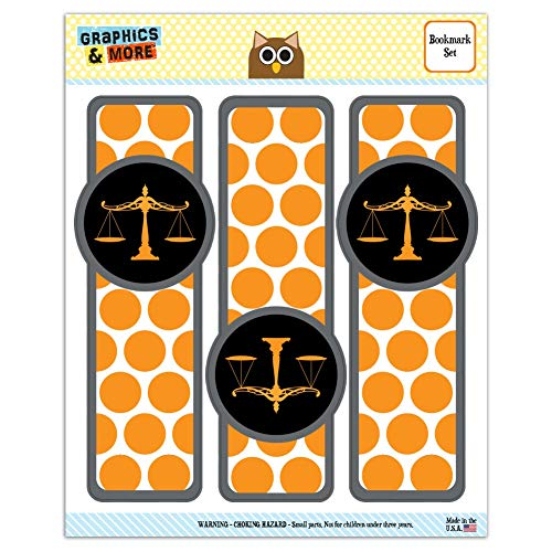 Scales of Justice Legal Lawyer Set of 3 Glossy Laminated Bookmarks