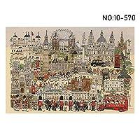 1000個の油絵大人の知的パズル平面パズルおもちゃ学習教育フリーハンドロンドン