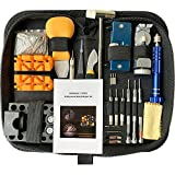 GOOGUJIA Watch Repair Tool Kit, Case Opener Spring Bar Tool, Watch Battery Replacement Tool Kit, Watch Band Link Removal Tool Set with Carrying Case and Instruction Manual For Beginner (172, Medium)