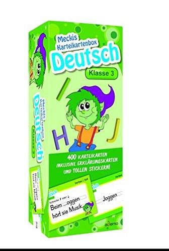 Karteibox Deutsch Klasse 3: mit 400 farbigen Karteikarten und tollen Stickern