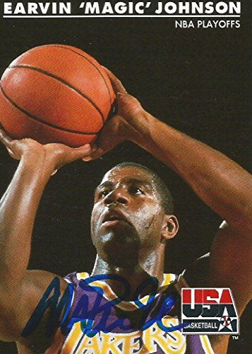 Save %32 Now! 1992 Skybox USA LA Lakers Magic Johnson #33 Signed Auto Card IN PERSON PROOF - Basketb...