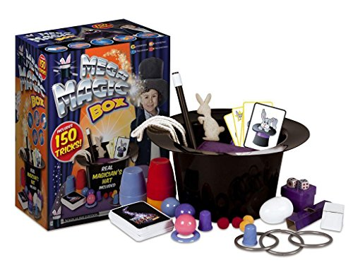 Zauberkasten für Kinder, 150Tricks, mit Zauberhut, Zauberstab, Kaninchen, Zaubervorstellung Spielzeug Set,