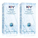 K-Y Liquid Personal Lubricant 5 oz, Water Based Lubricant, Pack of 2