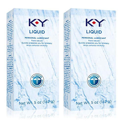 K-Y Liquid Personal Lubricant 5 oz, Water Based Lubricant, Pack of 2