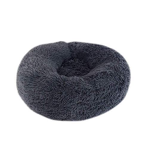 Perrera del gato del perro cama del animal doméstico casa de perro suave Ronda cama caliente del perrito de felpa larga Cojín cómodo nido gato del perro de casa de la estera-C_60cm, G, 60cm Jialele