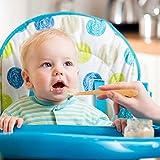 FRIUSATE 8 Stück babylöffel silikon, mehrfarbig Fütterlöffel Baby Fütterlöffel Weiche Fütterlöffel Löffel Baby Bunte Löffel für BPA Frei Säugling Kinder Ab 4 Monate Silikon - 4