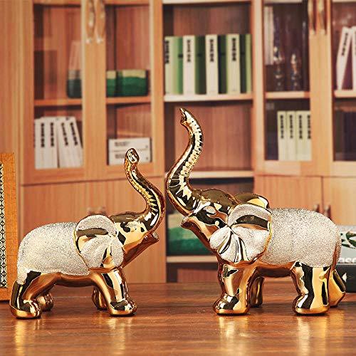 Sinzong Elefantenstatue Statue Neues Haus Weinschrank Heimtierdekoration Keramik Elefant Hochzeitsgeschenk