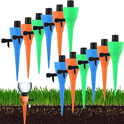 Souarts Automatisch Bewässerung Set für Topfpflanzen Bewässerungssystem Urlaub mit Einstellbarer Ventilschalter Garten Balkon Pflanzen Blumen Wasserversorgung