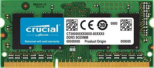 Crucial RAM CT102464BF160B 8Go DDR3 1600 MHz CL11 Mémoire d'ordinateur Portable