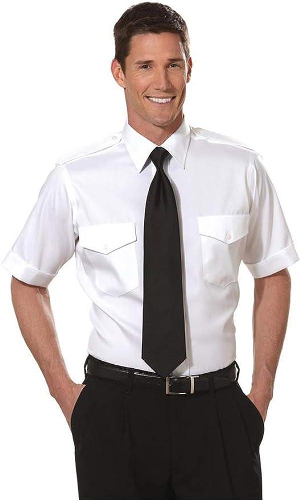 Van Heusen Men's Aviator Pilot Shirt - Short Sleeve - Tallman