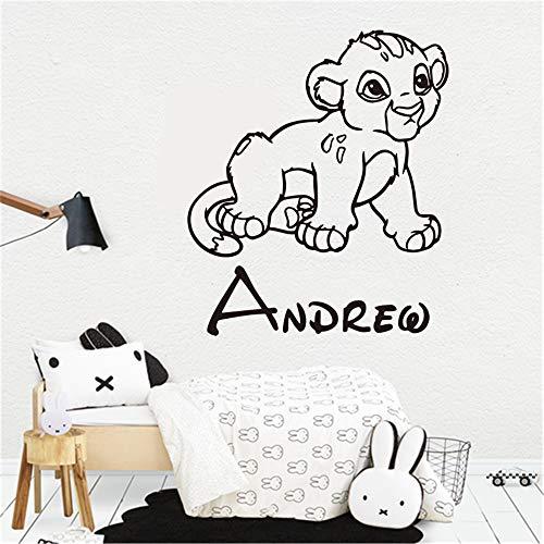 Roi Lion Simba Bébé Nom Personnalisé Autocollant Art Enfants Garçons Chambre Art Décor Chambre Décor À La Maison