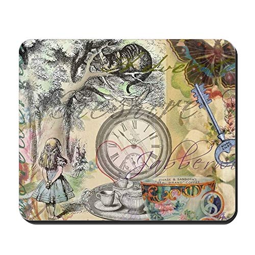CafePress Cheshire Cat Alice in Wonderland Non-Slip Rubber Mousepad, Gaming Mouse Pad