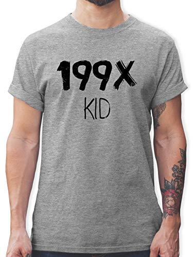 Statement Shirts - 199X Kid - XXL - Grau meliert - L190 - Tshirt Herren und Männer T-Shirts